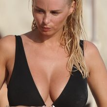 Rhian Sugden boobs grabbed in sexy swimsuit on the beach in Turkey 27x UHQ photos