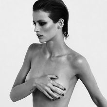 Flavia Lucini topless Wolfgang Pohn photoshoot 8x HQ