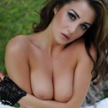 Chloe Goodman topless black lingerie photo shoot 20x HQ