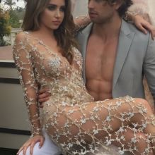 Ryan Newman braless in see through dress - Adam Kay photoshot 4x HQ photos