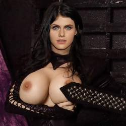 Alexandra Daddario topless bondage