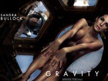 Sandra Bullock nude Gravity poster 2x UHQ