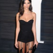 Emily Ratajkowski sexy cleavage on 2016 Vanity Fair Oscar Party 40x UHQ photos