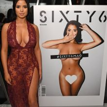 Demi Rose braless in see through dress on Sixty6 magazine launch party 53x HQ photos