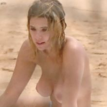 Ashley Benson topless at a beach in Hawaii 2014 July 10x UHQ