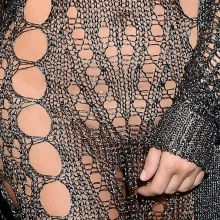Kim Kardashian pantyless in see through dress on Balmain show as part of the Paris Fashion Week HQ photos