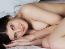 Alexandra Daddario from True Detective nude on the bed photo shoot UHQ