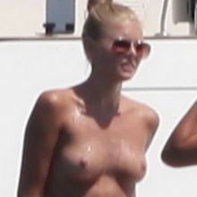 Toni Garrn caught topless sunbathing on yacht 5x HQ
