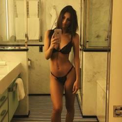 Emily Ratajkowski beauty curves in see through lingerie 2x HQ photos