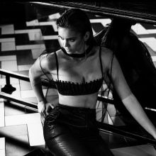 Nina Dobrev sexy bra photo shoot for Interview magazine 2015 November 5x HQ