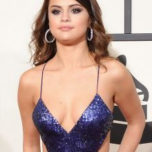 Selena Gomez sexy cleavage on 58th Annual GRAMMY Awards 28x HQ photos
