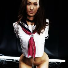 Maggie Q without panties bondage photo HQ