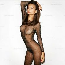 Emily Ratajkowski topless see-through bodysuit deleted Instagram photo 13x MixQ
