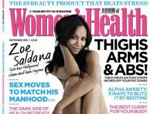 Zoe Saldana nude Women's Health UK magazine 2014 September 4x HQ