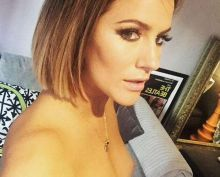 Caroline Flack nip slip Instagram photo