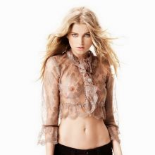 Elsa Hosk see through for Guess 2016 Campaign hard nipples visible 16x HQ photos