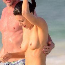 Jaime Murray topless at a beach in Mexico 32x HQ