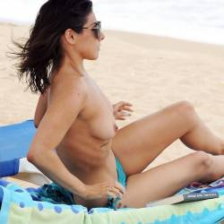 Roxanne Pallett topless on the beach in Cyprus 23x HQ photos
