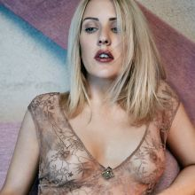 Ellie Goulding braless in see through dress for Rollacoaster 2015 6x HQ