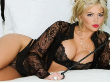 Kate Upton in black mistress lingerie HQ photo