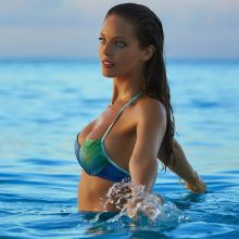 Emily DiDonato nude naked topless bodypaint see through Sports Illustrated sexy Swimsuit 2016 photo shoot 35x HQ