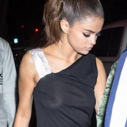 Selena Gomez braless in see through dress out with The Weeknd 79x HQ photos