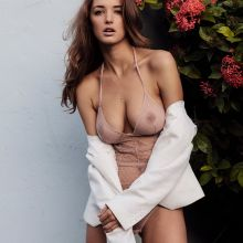Alyssa Arce see through lingerie Yume magazine 2014 July 8x HQ