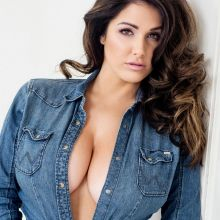 Lucy Pinder very big boobs cleavage in tight corset for 2017 Calendar photo shoot 12x UHQ photos