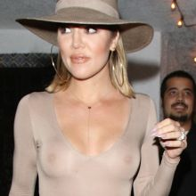 Khloe Kardashian braless in see through top leaving Casa Vega restaurant in Sherman Oaks 36x UHQ photos