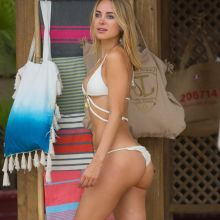 Kimberley Garner sexy bikini cameltoe candids on the beach in St Tropez, France 24x HQ photos