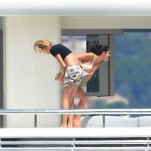 Selena Gomez and Cara Delevingne sexy bikini on a yacht in St Tropez 2014 July 70x MixQ
