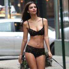Emily Ratajkowski hot DKNY lingerie photo shoot In New York boobs trying to pop out 36x HQ photos