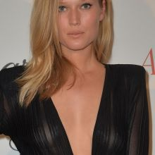 Toni Garrn see-through costume at Chopard-Annabel's in Cannes party 30x MixQ