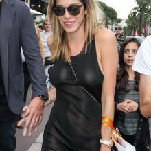 Aida Yespica in see through dress no bra out in Cannes 4x UHQ