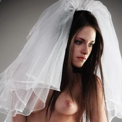 Kristen Stewart nude Bridal catalog photo shoot UHQ