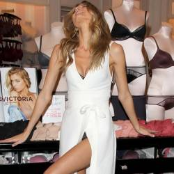 Martha Hunt upskirt Body By Victoria Collection Launch in Los Angeles 7x HQ photos