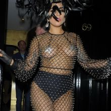 Lady Gaga in see through dress out in London 73x HQ