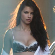Adriana Lima hot lingerie on the set of a Victoria's Secret commercial 13x HQ