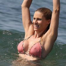 Michelle Hunziker pokies in sexy bikini on the beach in Forte Dei Marni 54x HQ photos