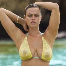 Myla Dalbesio - Sports Illustrated Swimsuit 2017 topless bare ass see through tiny bikini big boobs big ass 32x HQ photos