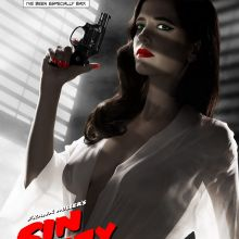 Eva Green see through dress in Sin City A Dame To Kill For Promo Poster UHQ