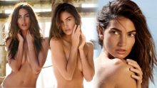 Lily Aldridge topless Maxim magazine 2015 April issue 13x HQ