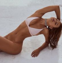 Alexis Ren, Bianca Booth topless bottomless FaeSwim photo shoot 20x MixQ photos