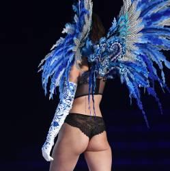Bella Hadid sexy see through lingerie cameltoe 2017 Victoria's Secret Fashion Show 19x MixQ photos
