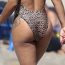 Christina Milian big ass in sexy swimsuit candids on the beach in Malibu 18x HQ photos
