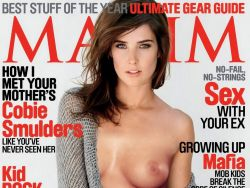 Cobie Smulders topless Maxim magazine cover UHQ
