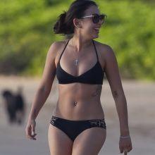 Janel Parrish wearing sexy bikini on the beach in Hawaii 41x HQ
