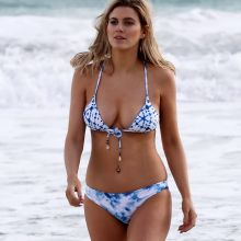 Ashley James sexy bikini candids on the beach in Dubai 28x HQ photos