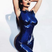 Kylie Jenner nude body paint photo shoot HQ