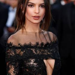 Emily Ratajkowski braless in see through dress on 'Loveless' premiere, 70th Cannes Film Festival, Cannes 121x UHQ photos